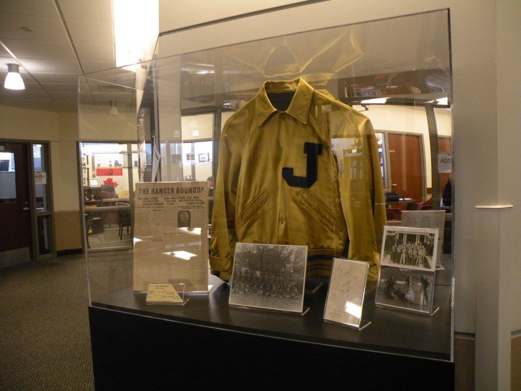 40s letter jacket display