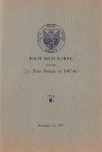 Program cover from The Prize Debate of December 12, 1947