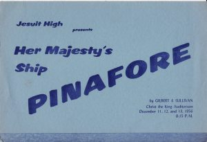 Program Cover H.M.S. Pinafore December 1956