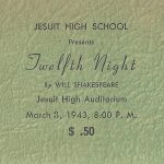 Jesuit's First Play March 3, 1943
