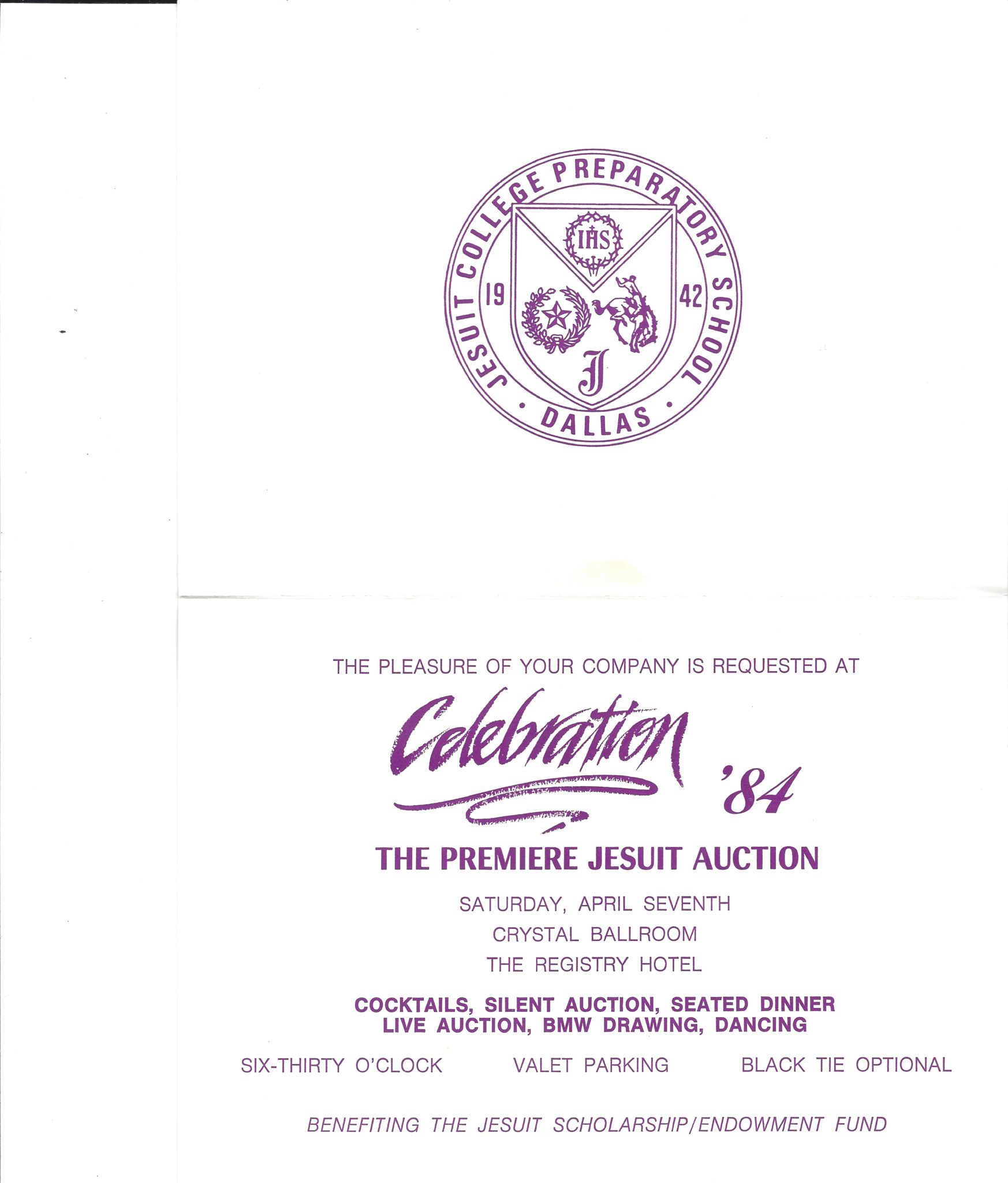 first auction invitation the archives of jesuit dallas